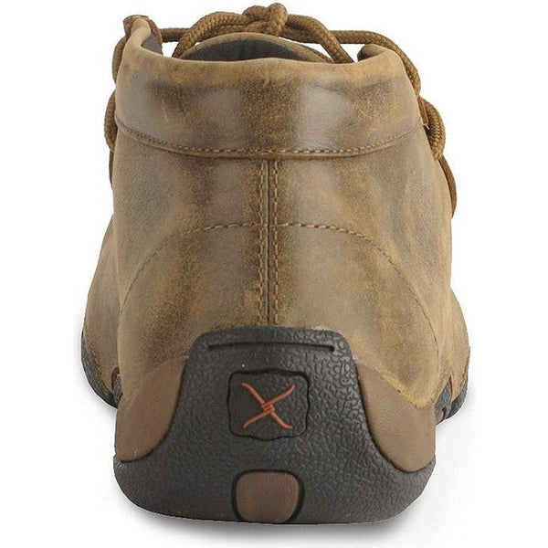 Twisted X Men's Leather Lace-up Rubber Sole Moc Toe Driving Moccasins - Copper-Twisted X-GrivetOutdoors.com