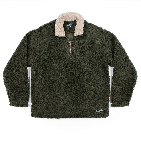Southern Marsh Appalachian Pile Pullover - Stone Brown / Large