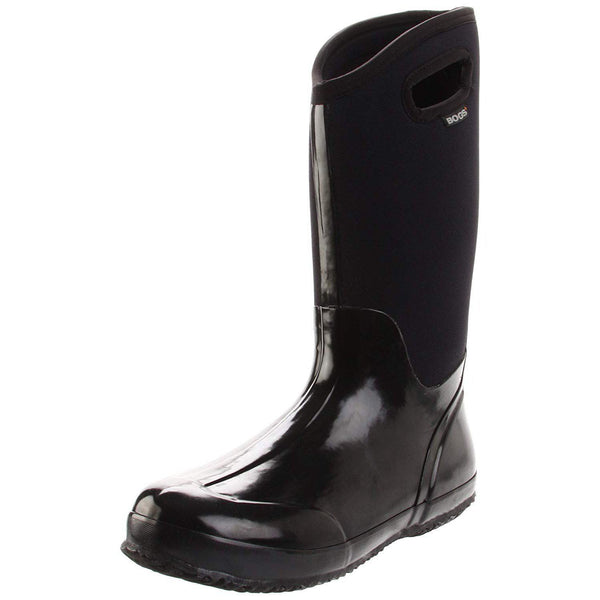 Bogs Women's Classic High Handle Waterproof Insulated Boot - Black Smooth / 12