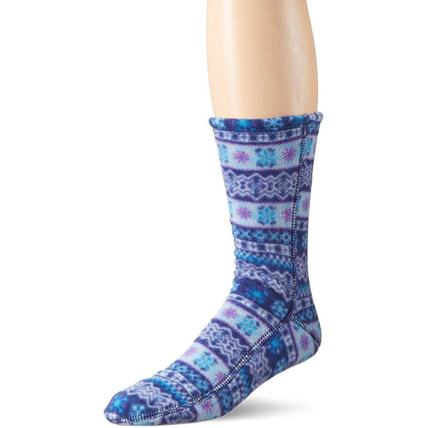 Acorn VersaFit Fleece Slipper Socks for Men and Women - Icelandic Blue / XS Men's 6-6.5/Women's 7-8