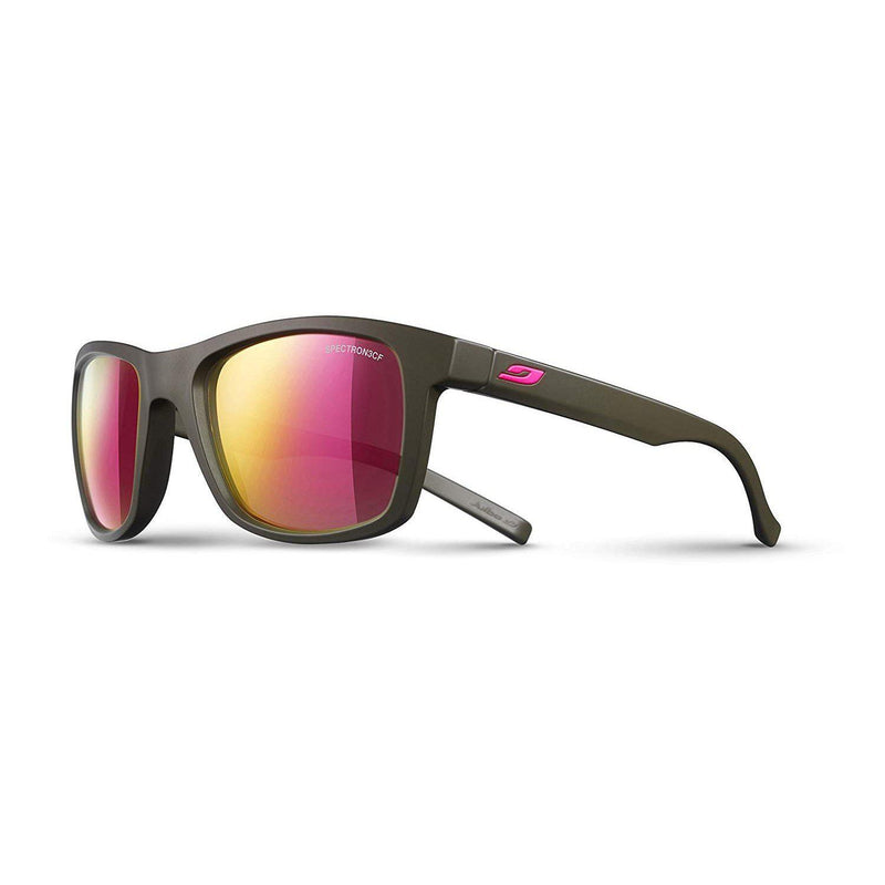 Julbo Beach Sunglasses - Matte Army Frame - Brown Lens w/ Pink Mirror