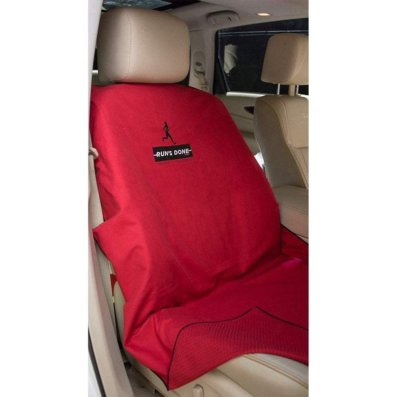 Run's Done Protective Car Seat Cover (Moisture-wicking, Machine Washable, Non-Slip Back, No Straps Needed) Orange-Run's Done-GrivetOutdoors.com