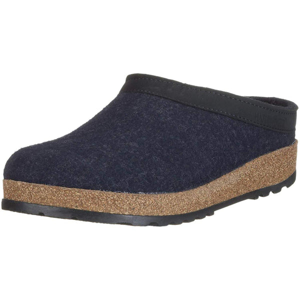 Haflinger Unisex GZL Leather Trim Grizzly Clog - Captains Blue / 11