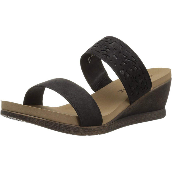 BEARPAW Women's Noelle Sandal - Black / 6.5