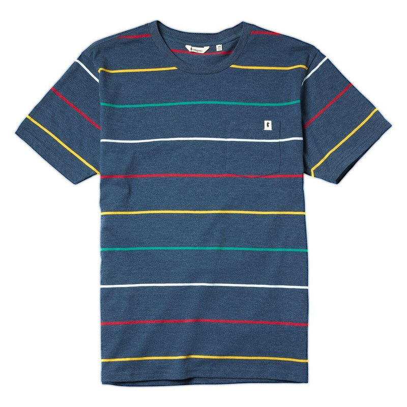 Cotopaxi Buenos Chest Pocket T-Shirt - XX-Large / Indigo Stripe