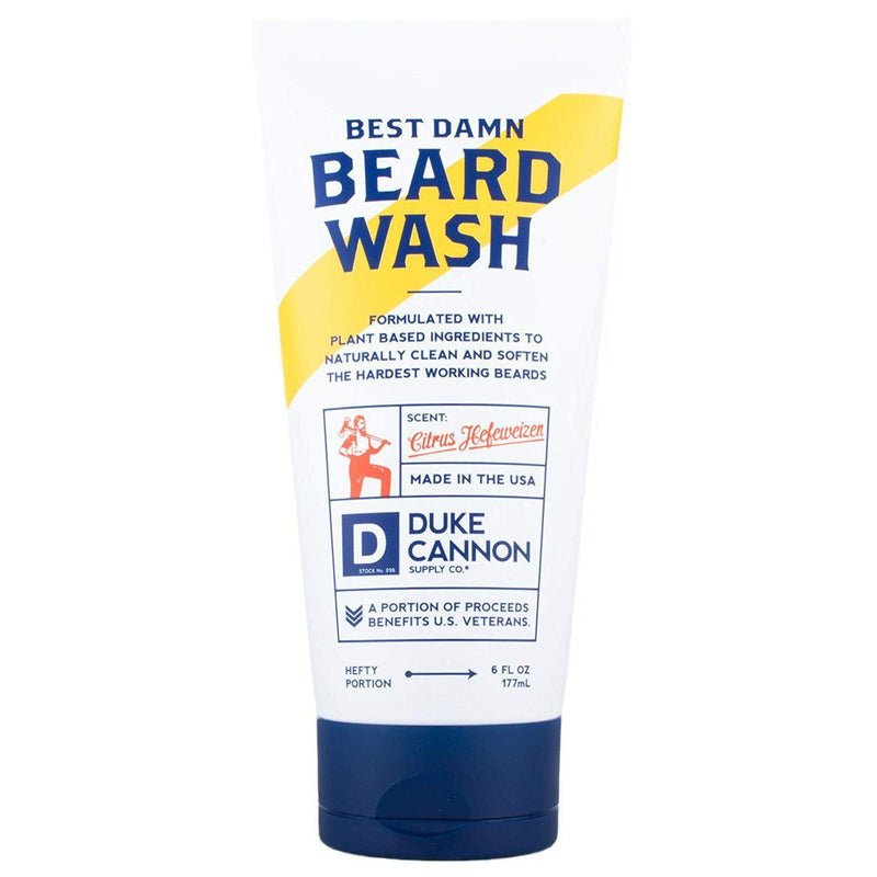 Duke Cannon Best Beard Wash, 6 Ounce/Made with Natural and Organic Ingredients - Default Title