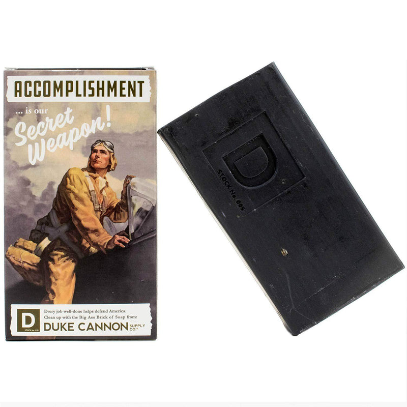 Duke Cannon Limited Edition WWII Era Big Brick of Soap for Men, 10oz. - 1 Bar / Accomplishment