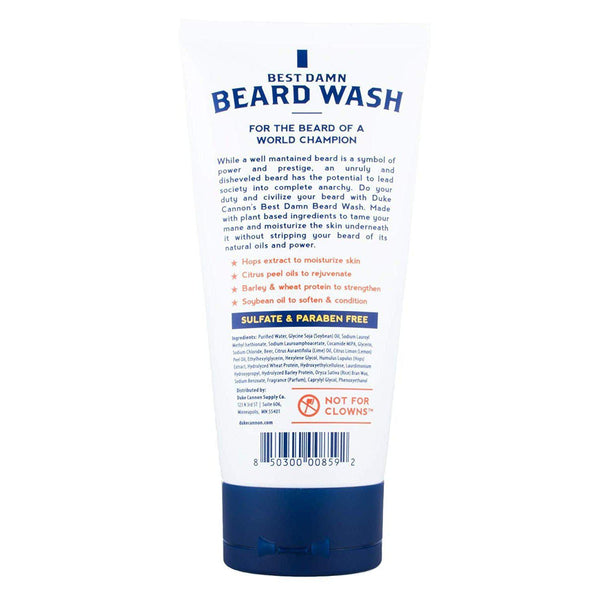 Duke Cannon Best Beard Wash, 6 Ounce/Made with Natural and Organic Ingredients - [variant_title]