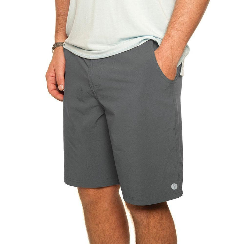 Free Fly Men's Bamboo-Lined Hybrid Shorts - Charcoal / 32 W