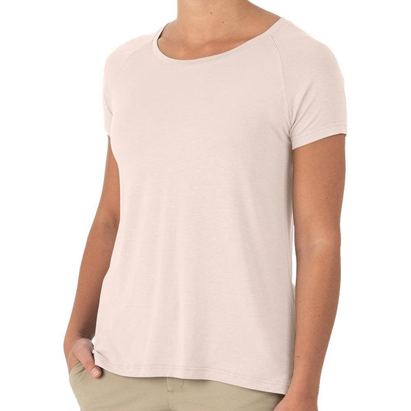 Free Fly Women's Bamboo Explorer Tee - Washed Peach / X-Large