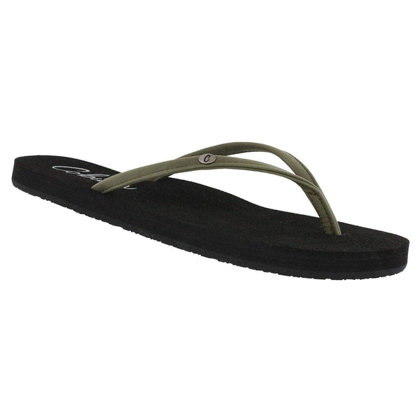 Cobian Women's Nias Bounce Flip-Flop Sandal - Olive - New for 2019 / 8