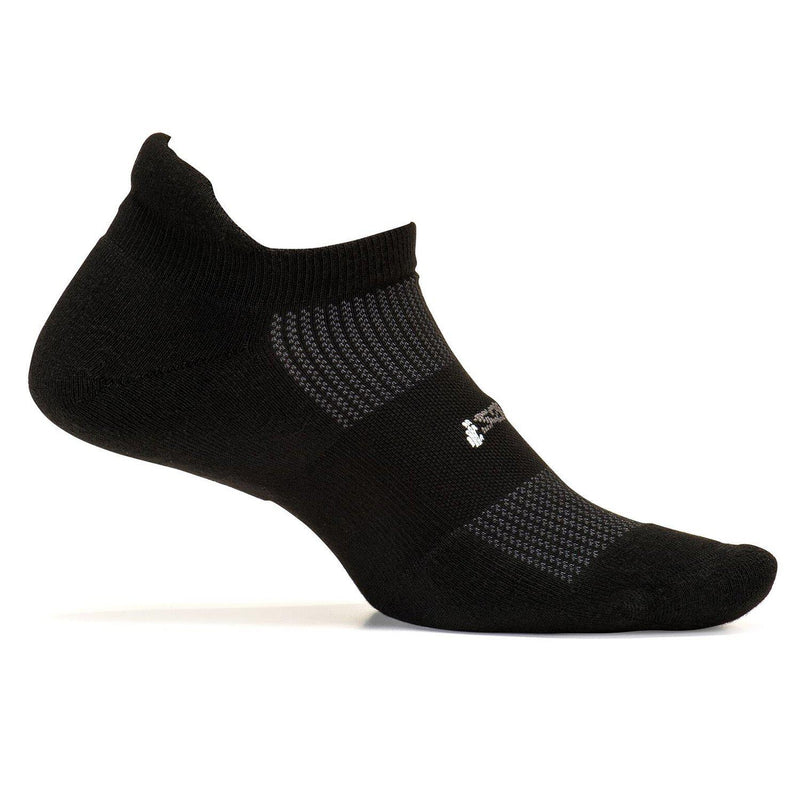 Feetures Unisex -  High Performance Cushion - No Show Tab - Athletic Running Socks - Black / X-Large