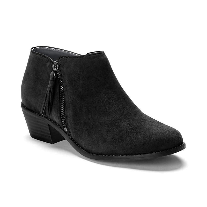 Vionic Women's Joy Serena Ankle Boot - Ladies Everyday Boots with Concealed Orthotic Arch Support - Black / 10