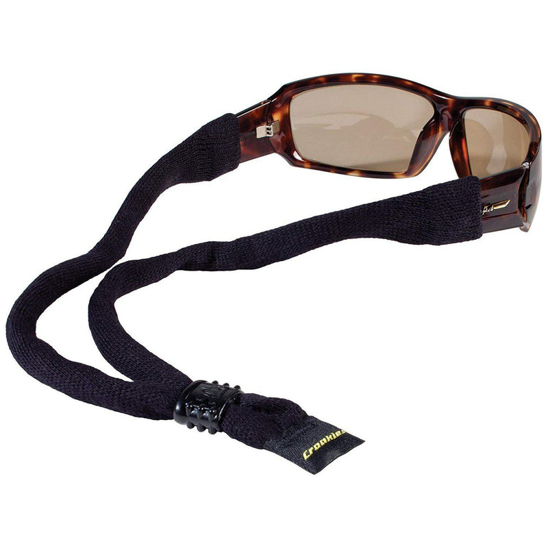 Croakies Cotton Suiters Eyewear Retainer - Black / XL