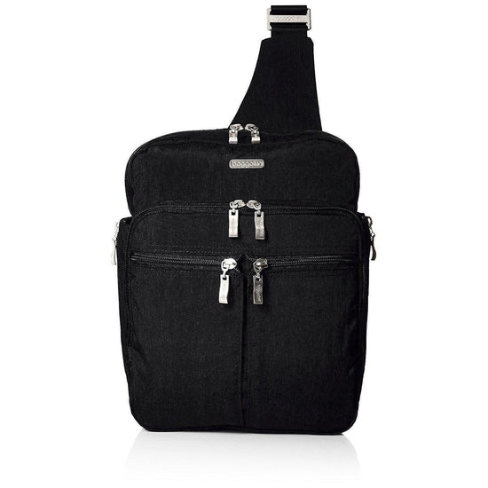 Baggallini Messenger Bagg with Rfid Cross Body - Black/Sand