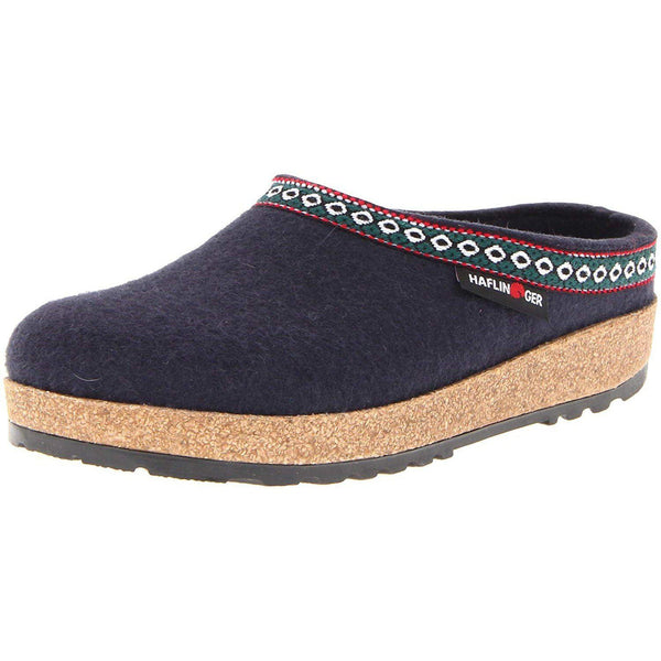 Haflinger GZ65 Classic Grizzly Clog - Navy / 10 Women / 8 Men