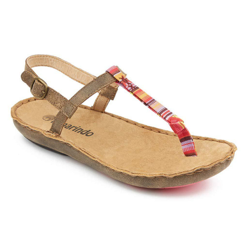 Tamarindo Tidal Sandal Women's Flip Flop with Adjustable Ankle Strap - Sand / Pink / 6