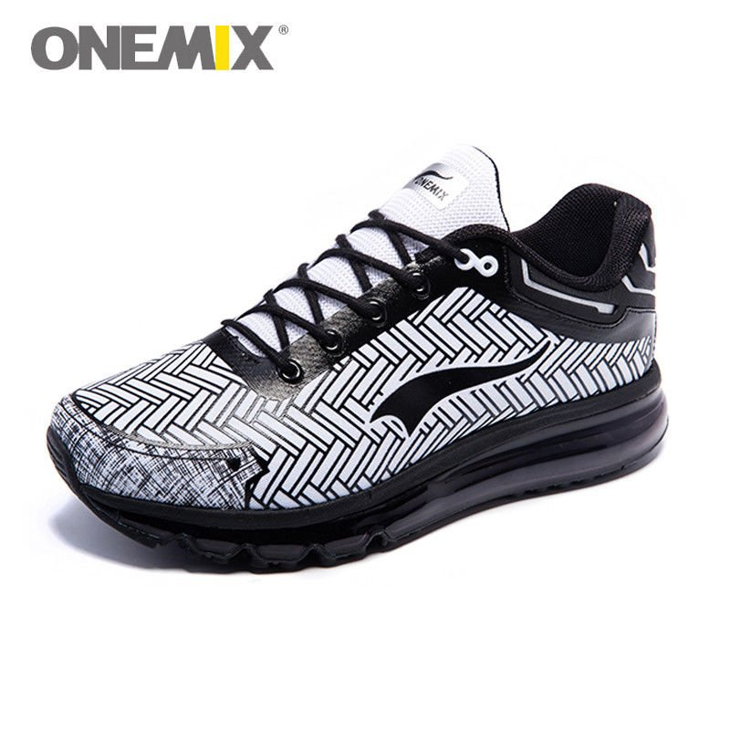 ONEMIX Men's Cross Training Shoes - Black/White / 10