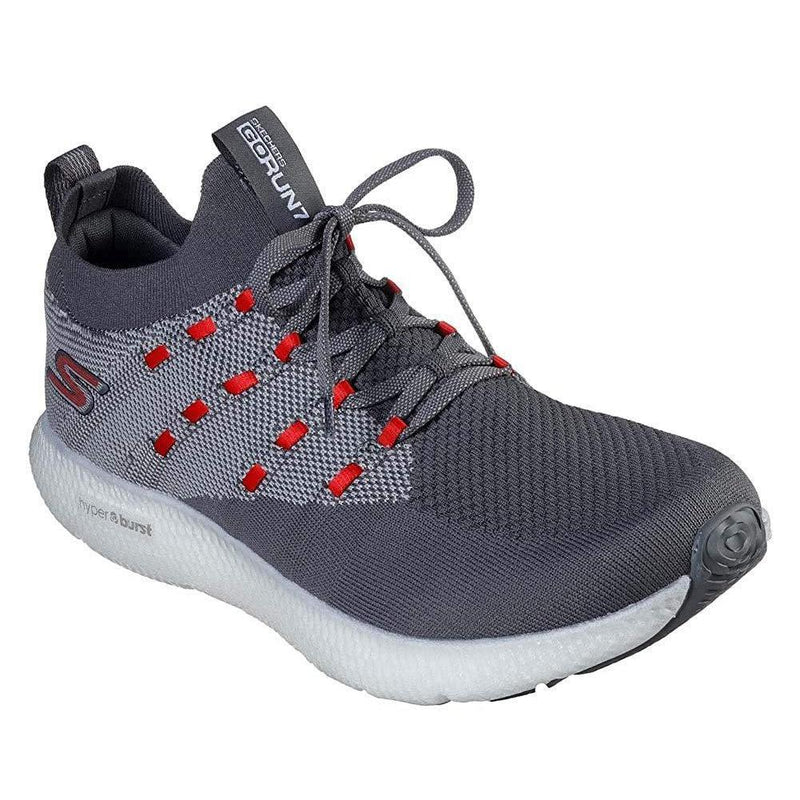 Skechers Mens GOrun 7 Sneaker - Charcoal Red / 10
