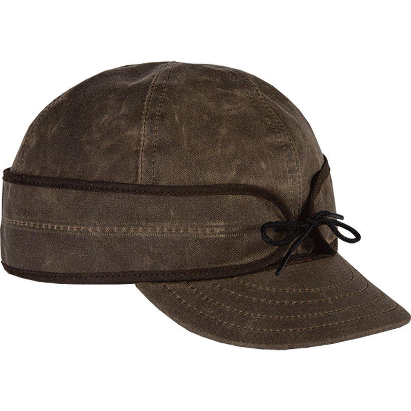 Stormy Kromer Men's Waxed Cotton Cap - Dark Oak / 6 7/8