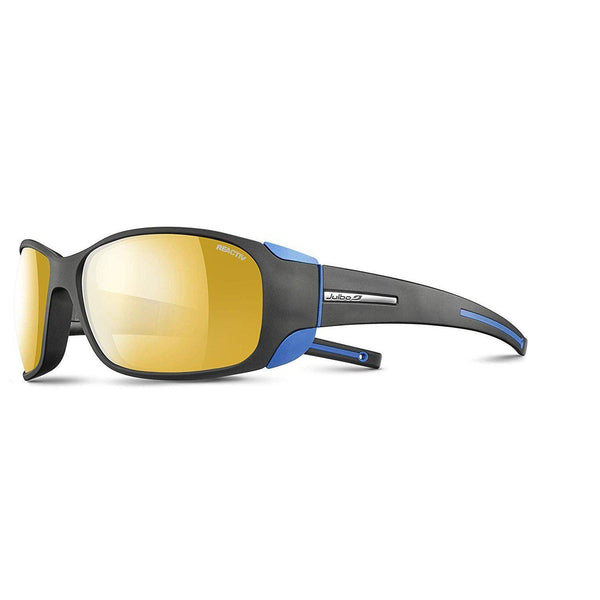 Julbo Montebianco Mountain Sunglass - BLACK / BLACK / BLUE