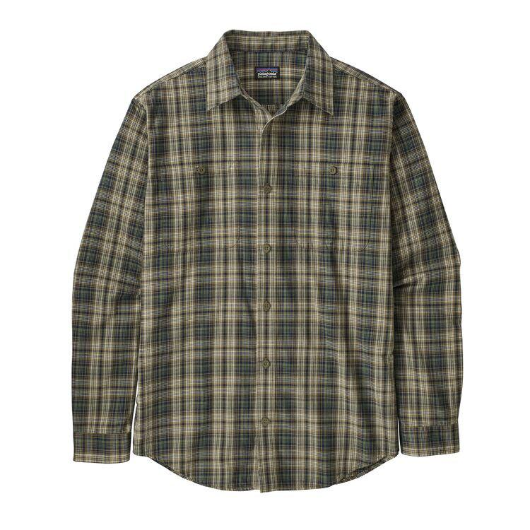 Patagonia Long Sleeved Organic Pima Cotton Shirt - Sage Khaki / L