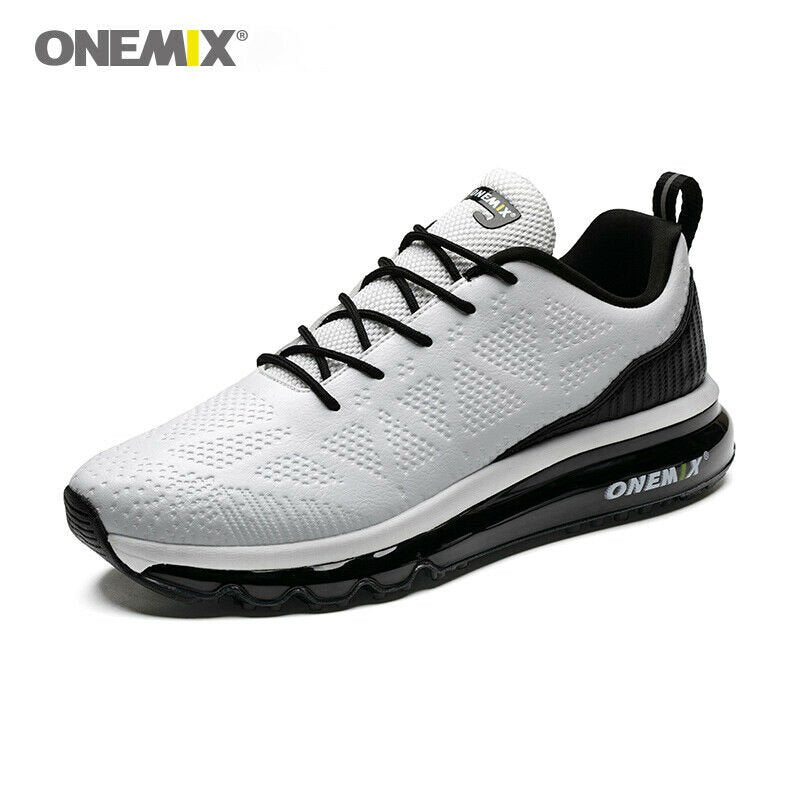 ONEMIX Men's Leather Running Shoes - 10 / Black