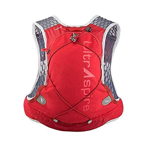 "Ultraspire Alpha 3.0 Hydration Pack | Fluid Capacity up to 3 Liter | 2 Bottles Included | BPA & PVC Free Bladder - Ultra Red / LG (Chest Size: 37""-42"")"