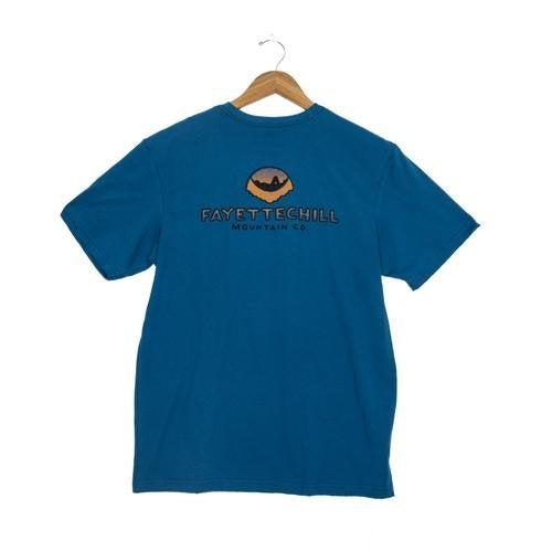 Fayettechill Sunset Hammock Short Sleeve Shirt - Glass Blue / Large