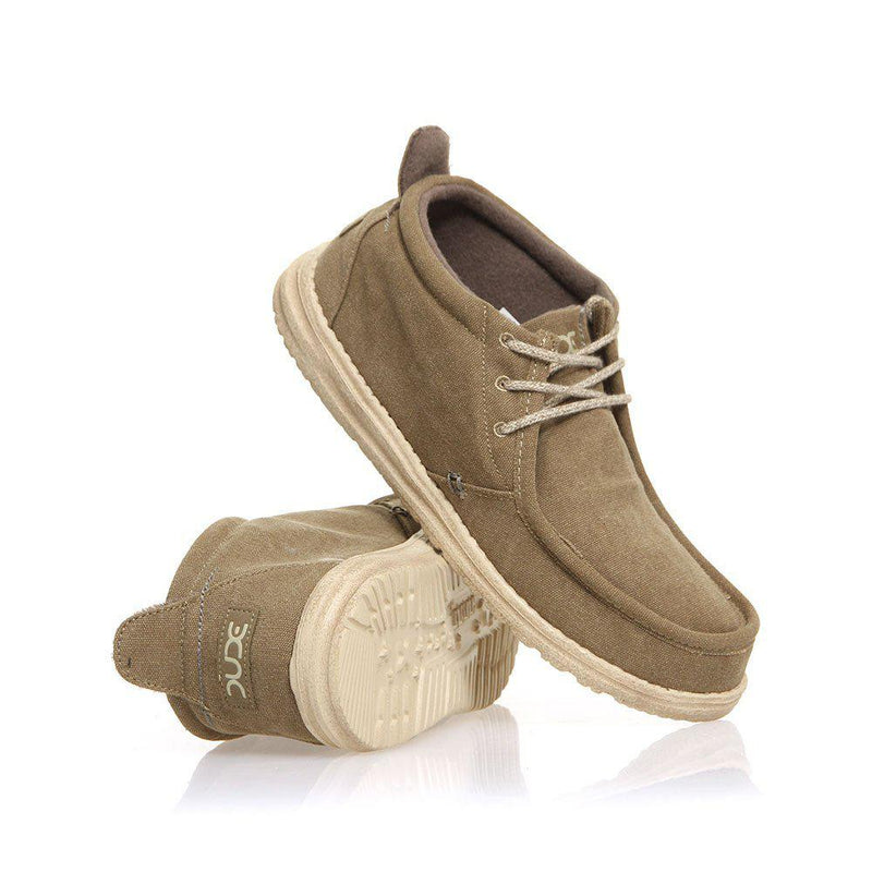 Hey Dude Men's Conrad L Cotton, Canvas, Textile, Memory Foam Moccasins-Hey Dude-GrivetOutdoors.com