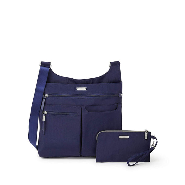 Baggallini On Track Crossbody with RFID Phone Wristlet - Navy