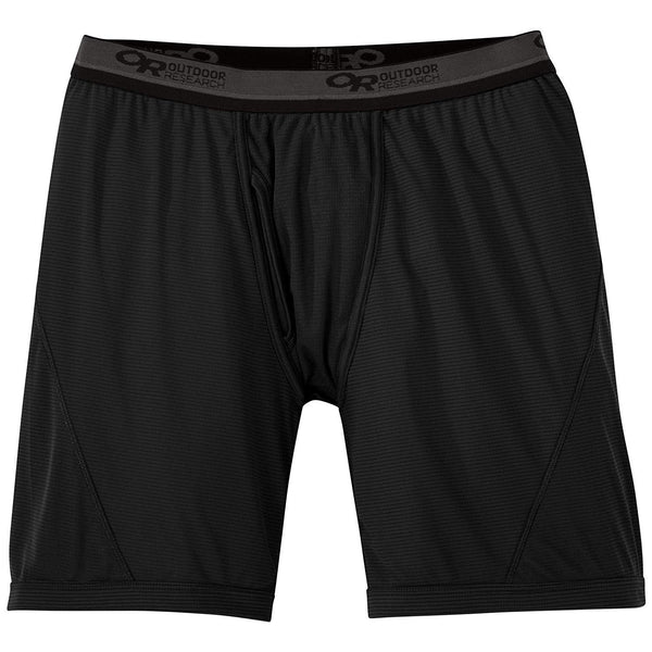 Outdoor Research Men's Echo Boxer Briefs - Black/Pewter / Large