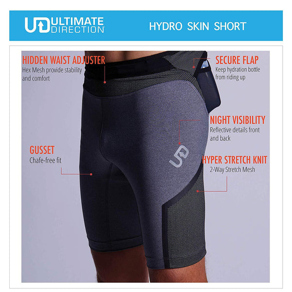 Ultimate Direction Mens Hydro Skin Running Shorts - [variant_title]
