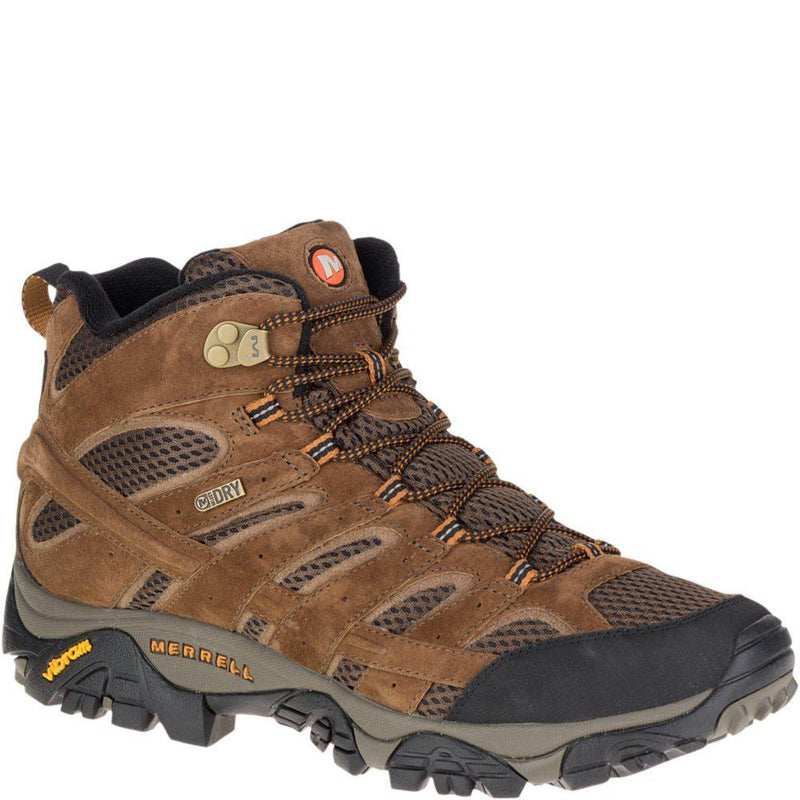 Merrell Men's Moab 2 Mid Waterproof Hiking Boot - Earth / 10