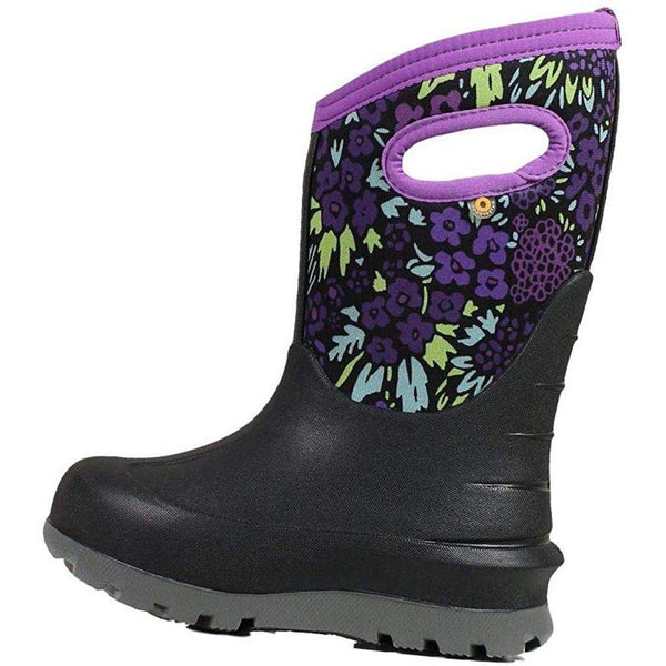 Bogs Outdoor Boots Girls Neo Classic NW Garden Waterproof 72505 - Black Multi / 10 Little Kid