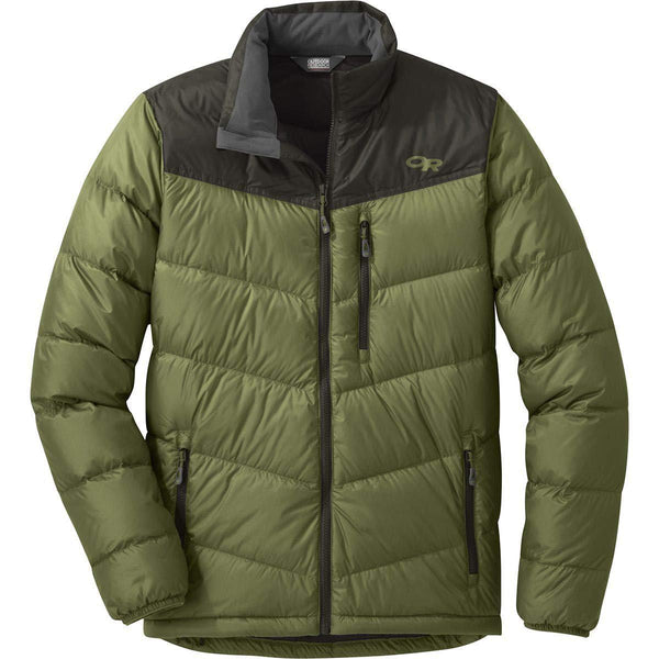 Outdoor Research Men's Transcendent Down Jacket - Seaweed/Forest / Large