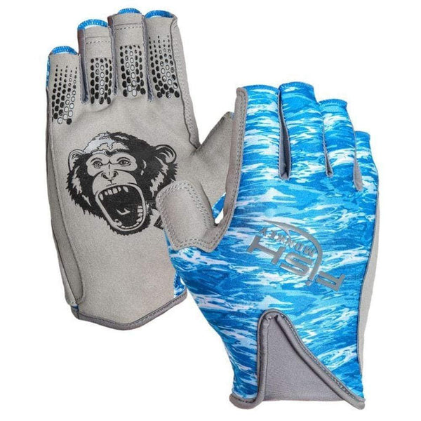 Fish Monkey Pro 365 Guide Glove - Blue Water Camo / Small