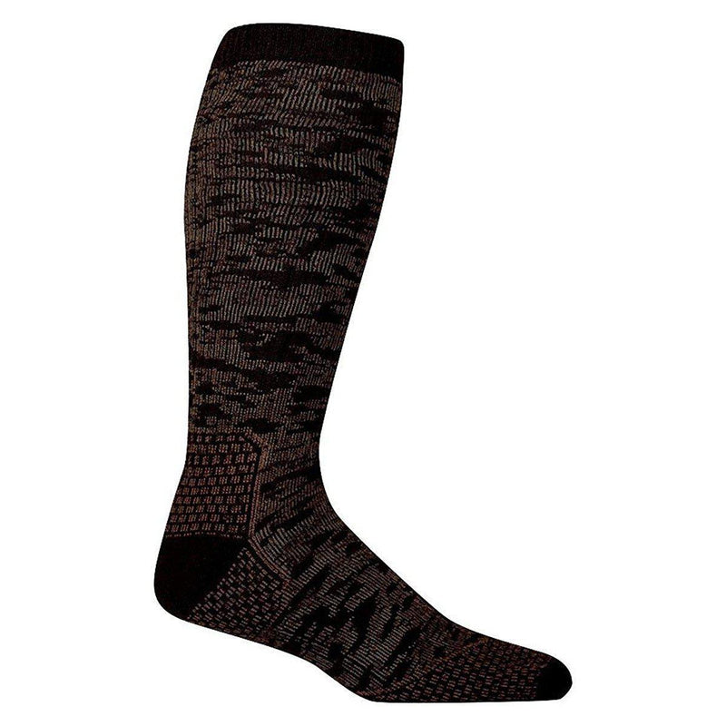 Farm to Feet Men's Slate Mountain Midweight Over-The-Calf Socks - Brown / Large