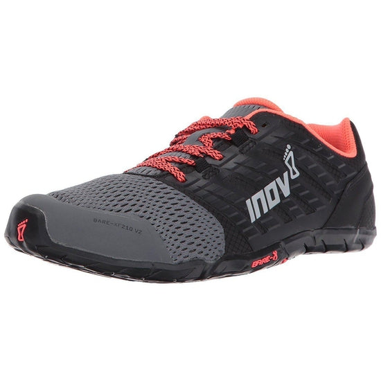 Inov-8 Women's Bare-XF 210 V2 Sneaker - Grey/Black/Coral / 10.5