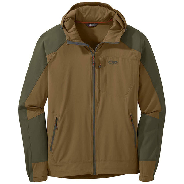 Outdoor Research Men's Ferrosi Hooded Jacket - Coyote/Fatigue / Large