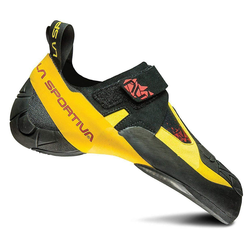 La Sportiva Skwama Rock Climbing Shoe - Black/Yellow / 39.5