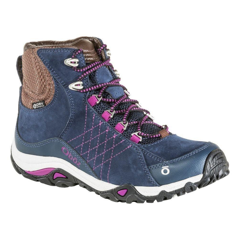 Oboz Women's Sapphire Mid B-Dry Hiking Shoe - Huckleberry / 10
