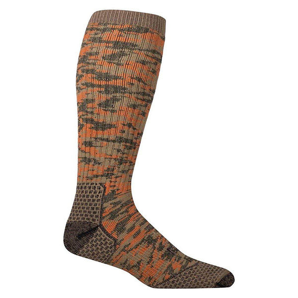 Farm to Feet Men's Slate Mountain Midweight Over-The-Calf Socks - Red Orange / Large