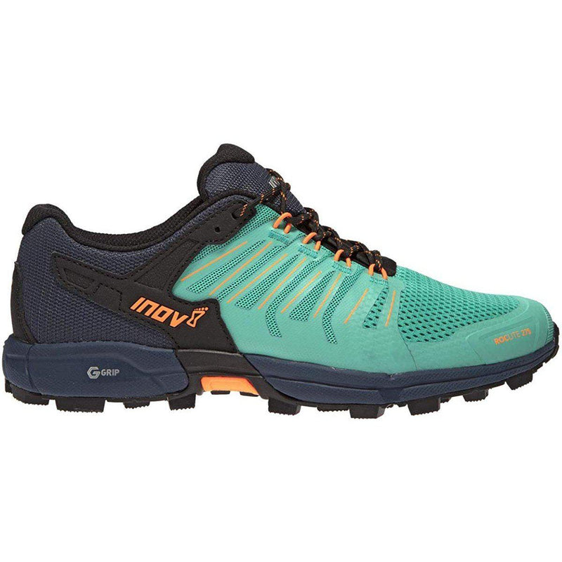 Inov-8 Womens Roclite G 275 - Lightweight Trail Running OCR Shoes - Graphene Grip - for Obstacle, Spartan Races and Mud Running - Teal/Navy / 5.5