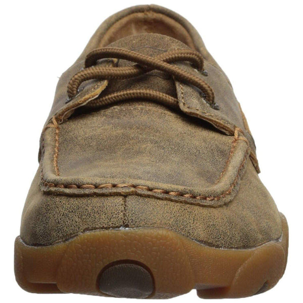 Twisted X Men's Leather Lace-up Rubber Sole Moc Toe Driving Moccasins - Bomber-Twisted X-GrivetOutdoors.com