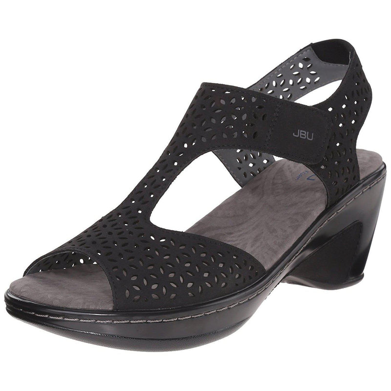 Women's Chloe Wedge Sandal JBU by Jambu - Black / 10