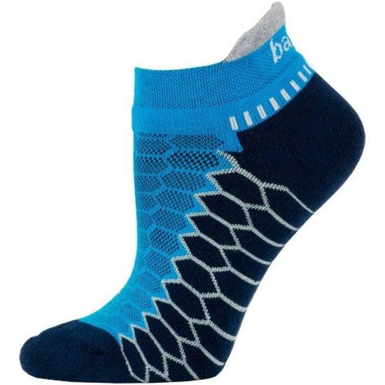 Balega Silver Performance Runner Socks - Bright Turquoise/Ink / Large