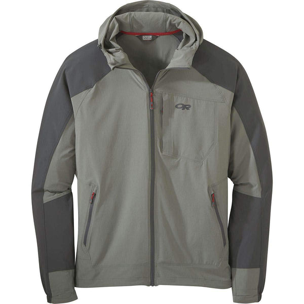 Outdoor Research Men's Ferrosi Hooded Jacket - Pewter/Storm / Large