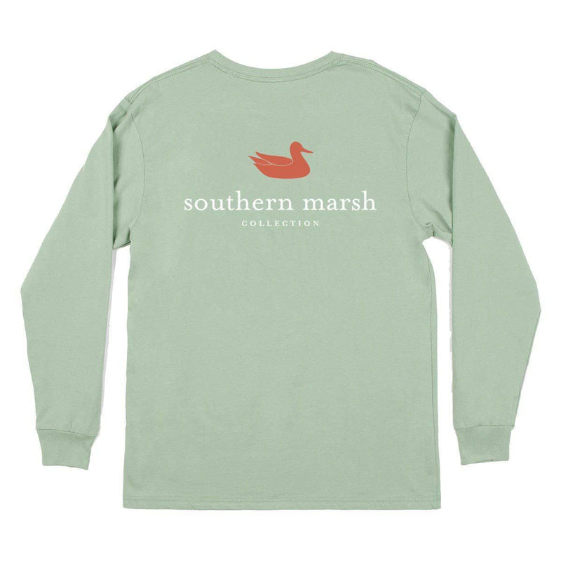 Southern Marsh Men's Authentic Long Sleeve Shirt - Bay Green / X-Large