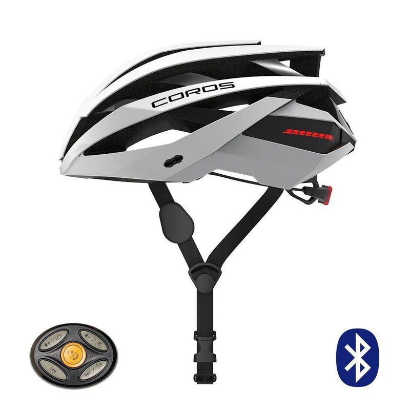 Coros Omni Smart Cycling Helmet w/Bone Conducting Audio, LED Tail Lights & Removable Visor | 18 Vents for Better Cooling | Connects via Bluetooth for Music, Calls & Navigation | Lightweight - Grivet Outdoors